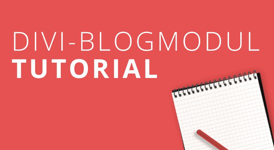 Einrichtung eines Blogs mit dem Divi-Pagebuilder.