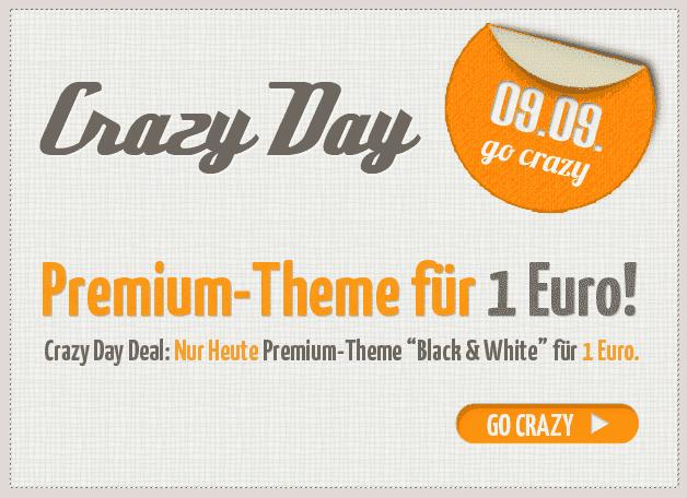 "Crazy-Day-Deal: Premium Theme ""Black & White"" für 1 Euro"