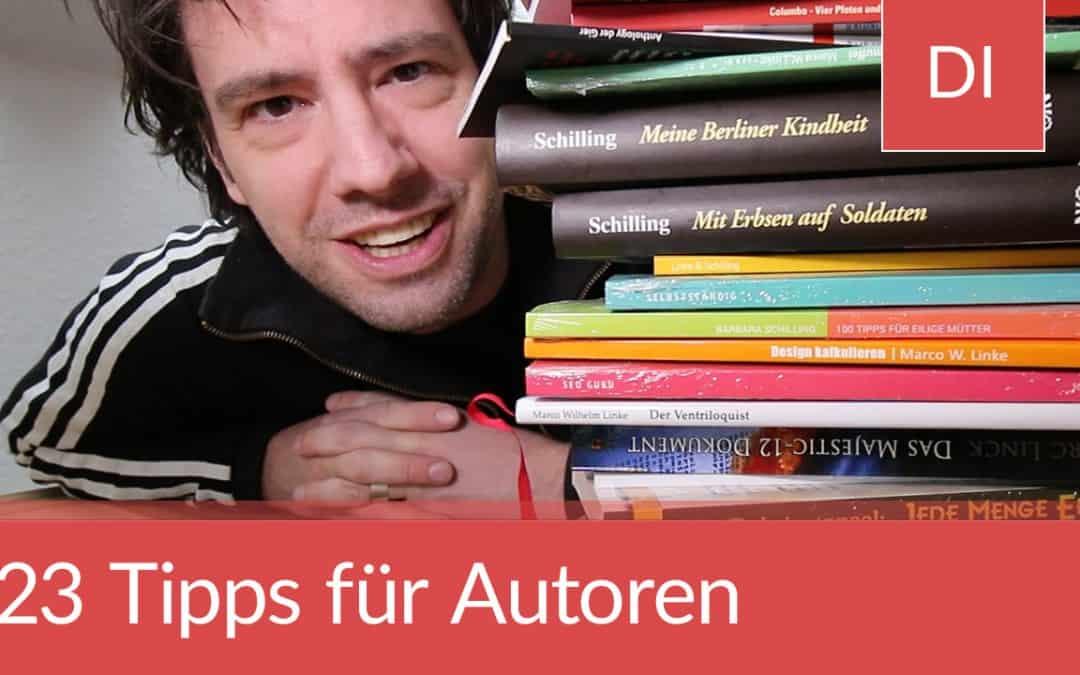 23 Tipps für Autoren und Autorinnen