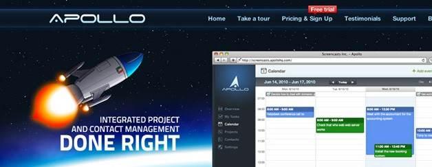 Apollo Projektmanagement und Kontaktmanagement.