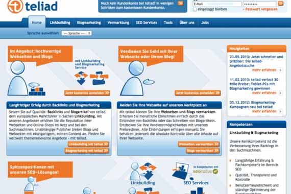 Mit Backlinks Geld verdienen: teliad