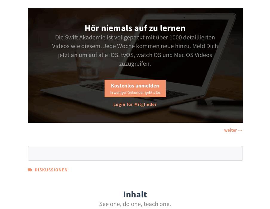 Lerne die App-Entwicklersprache Swift – kostenlos.