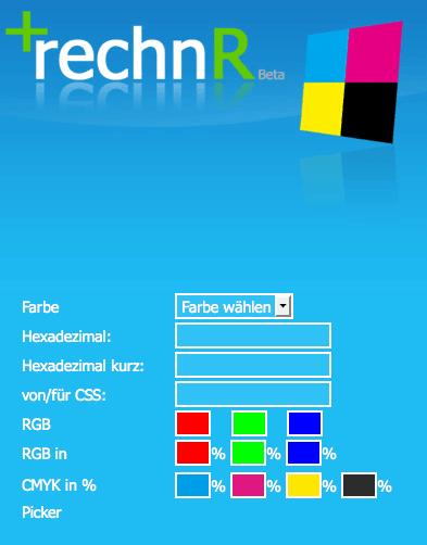 Farbenrechner CMYK RGB