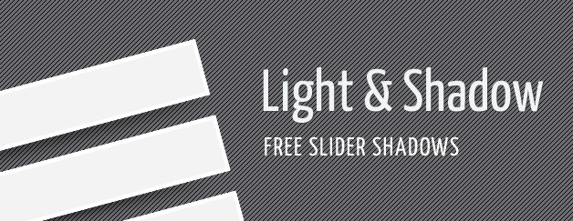 Free Slider Shadows (PSD)