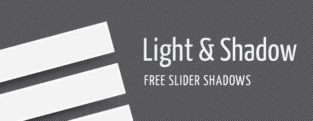 Free Slider Shadows (PSD)