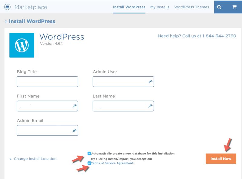 wordpress installieren host gator