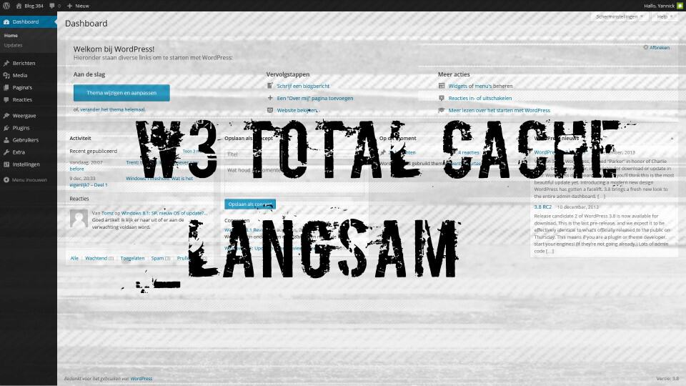 W3 Total Cache Backend langsam