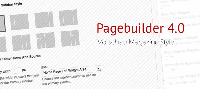 Pagebuilder 4: Landingpage, Blog oder WordPress Magazine Themes.