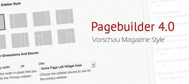 Pagebuilder 4: Landingpage, Blog oder WordPress Magazine Themes.