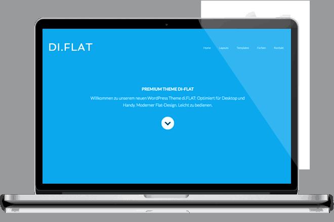 PREVIEW: WordPress Theme DI.Flat