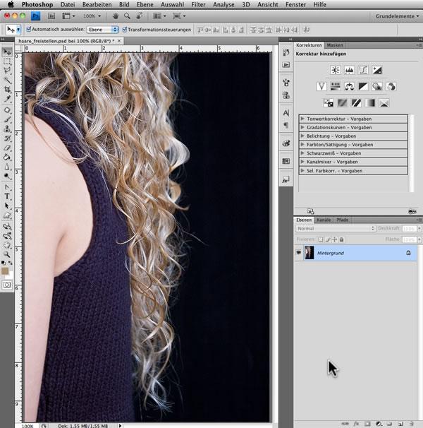 Haare perfekt ausschneiden photoshop