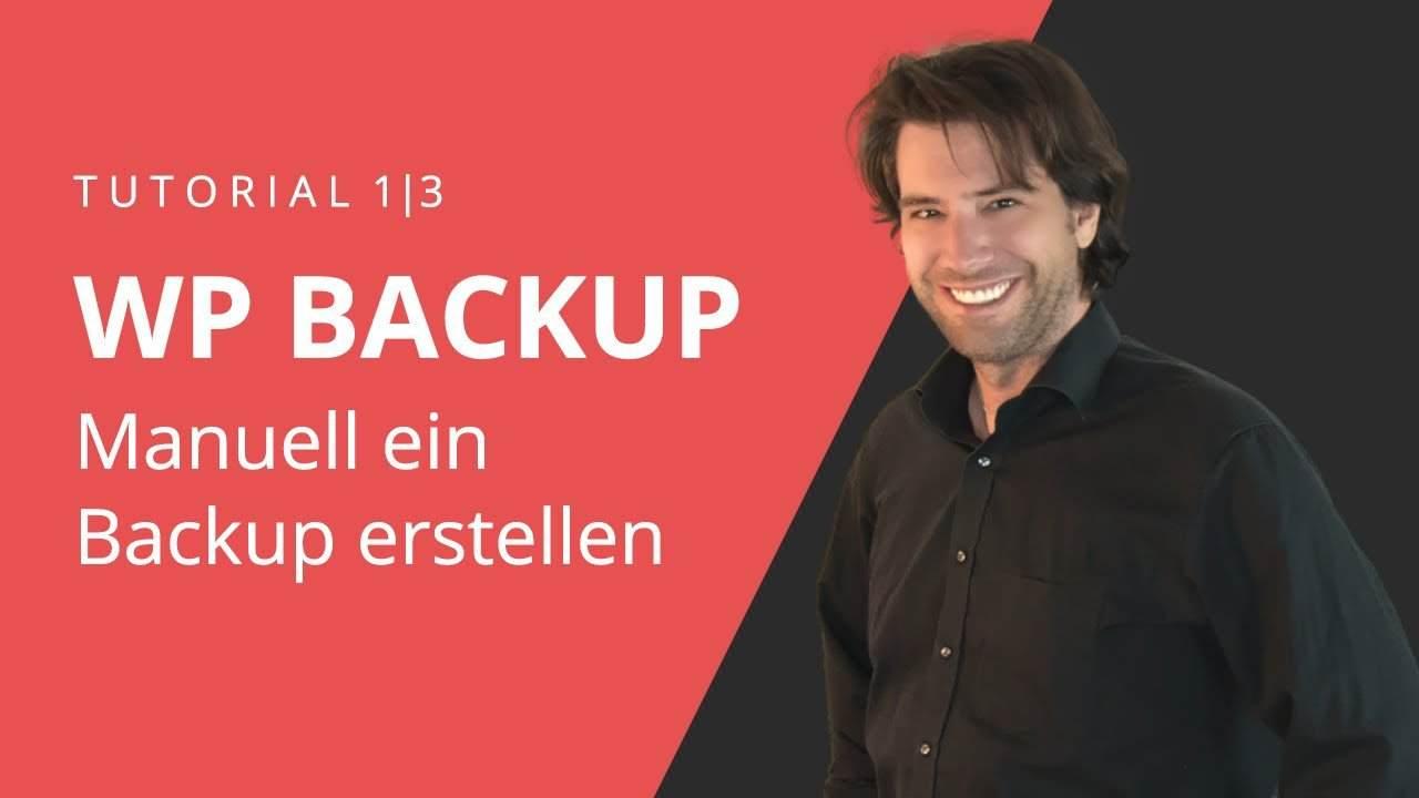 WordPress Backup manuell erstellen und wieder einspielen